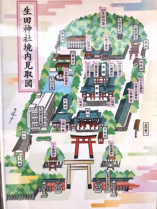 生田神社境内案内図