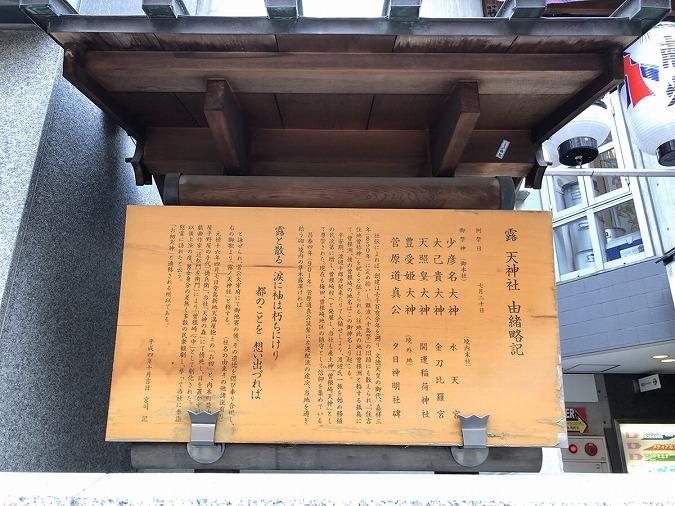 露天神社看板
