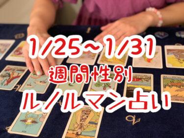 1/25~1/31 週間性別ルノルマン占い